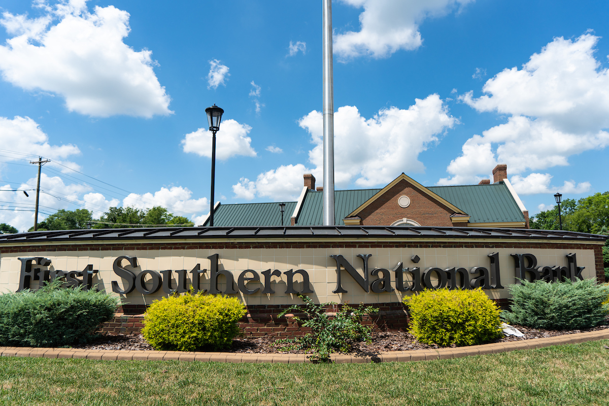 First Southern National Bank sign