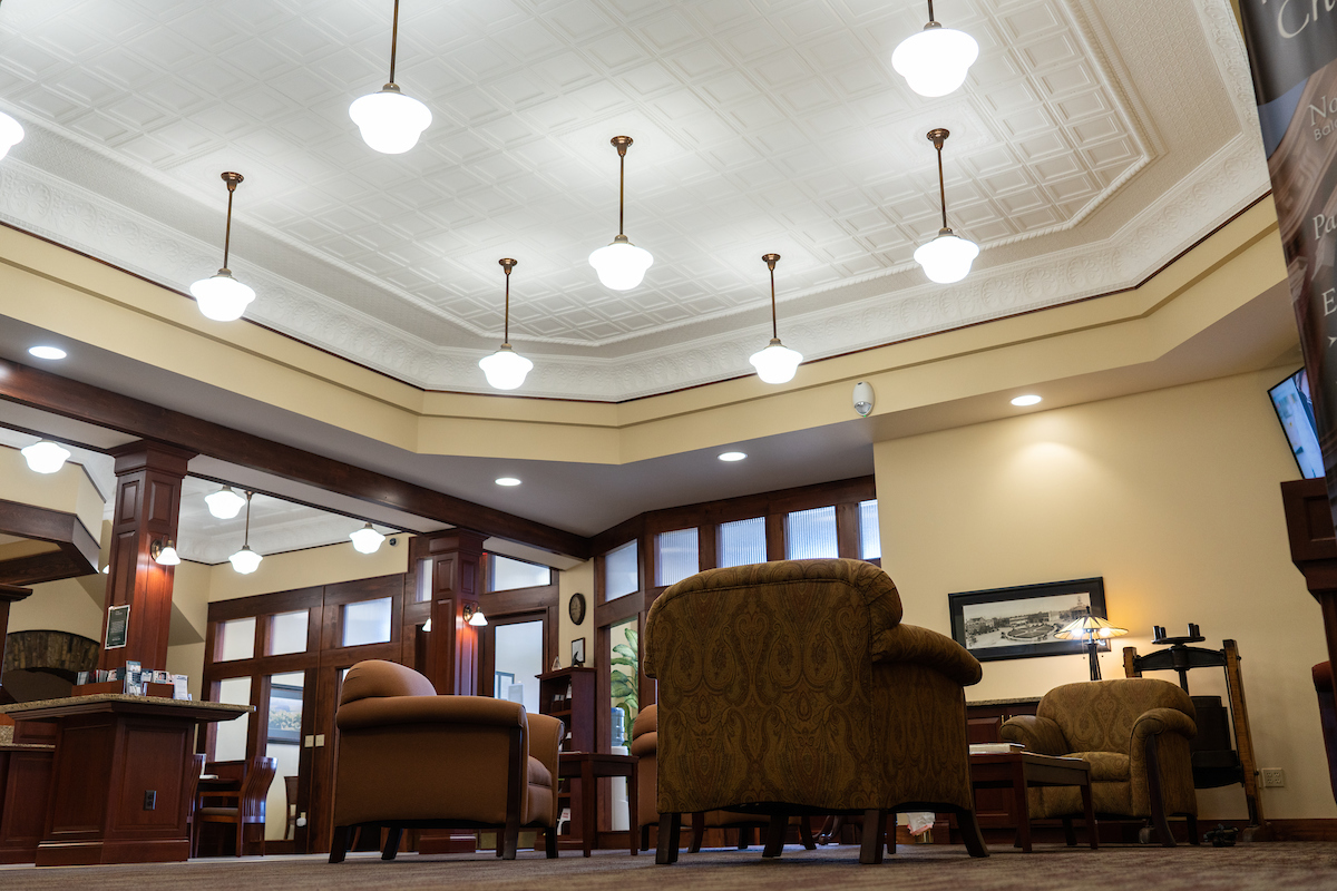 lobby of First Southern National Bank